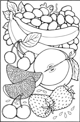 вырезать по шаблонам овощи и фрукты