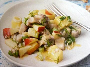 3. Салат с сельдью