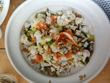 4. Салат с семгой