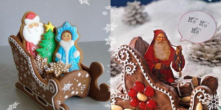 Сани с Дедом Морозом