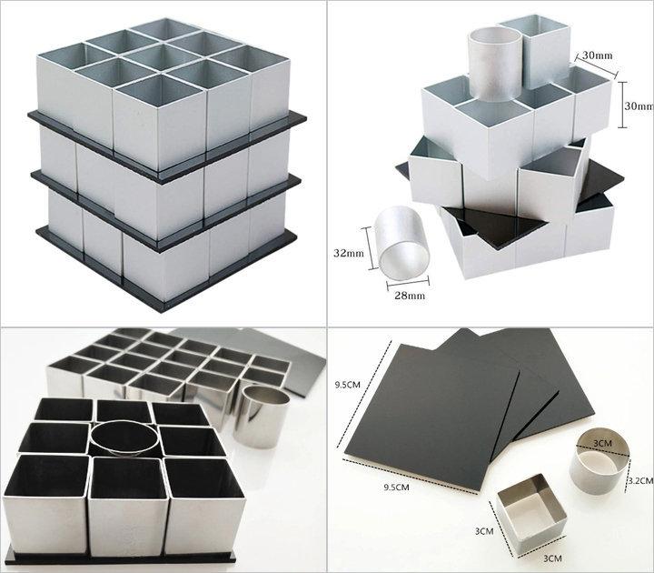 Какие формочки используются для приготовления торта Кубик Рубика - 1. Специальный сет
