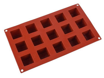 Какие формочки используются для приготовления торта Кубик Рубика - 2. Квадратные формочки для выпечки квадратных пирожных