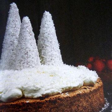 Как приготовить торт с заснеженными елями
