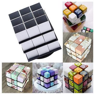 выложить кубики на подставку для торта