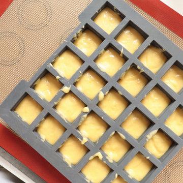 вы можете испечь кубики при помощи других формочек