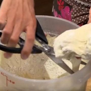 1. Как обработать тесто до 5-ти минутного хлеба