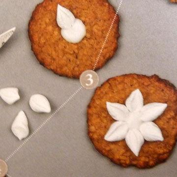 Мастер класс Овсяное печенье украшение цветы ветреницы 3