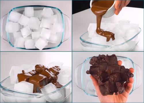 Шоколадные кубики льда 1