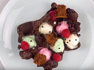 Шоколадные кубики льда
