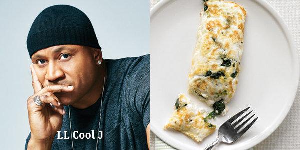 белковый яичный омлет LL Cool J