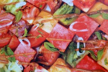 1. Салат с арбузом и помидорами