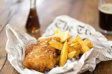 30. Великобритания и рыба и чипсы