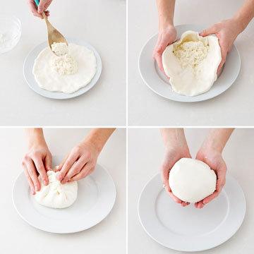 Как сделать сыр Burrata и Stracciatella. Шаг 20