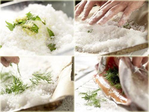 Запеченная форель в духовке целиком в соли 2