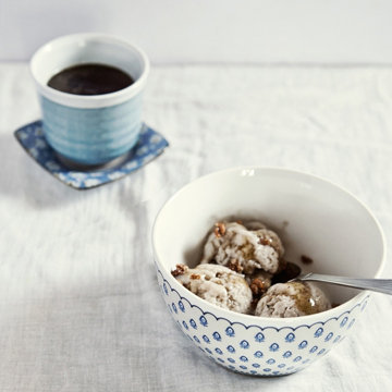 кофейный десерт Affogato al Caffè