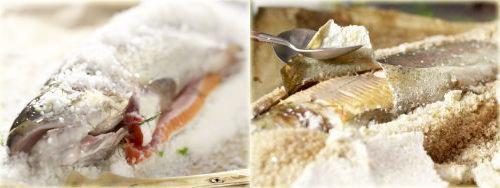 форель в духовке целиком в соли