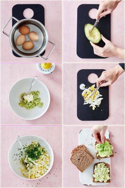 Бутерброд из авокадо с яйцом