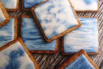 Быстрое ореховое печенье Какое небо голубое 2