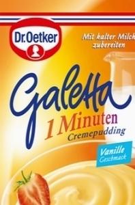Д-р Oetker Galetta - 1 минутный пудинг