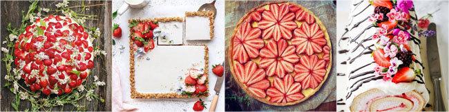 Украсить выпечку клубникой 3