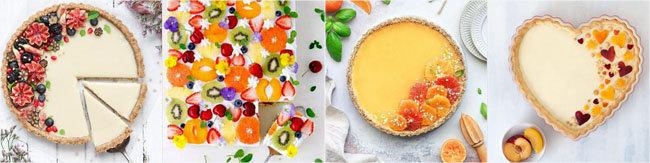 Украсить выпечку фруктами 2