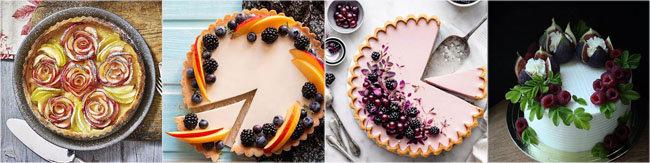 Украсить выпечку фруктами 3