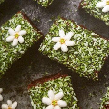 Шоколадный пирог Цветочная поляна 1