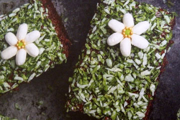 Шоколадный пирог Цветочная поляна 2
