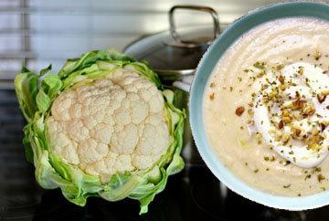 Суп из цветной капусты с ореховой гремолатой