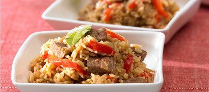 Плов из говядины рецепт с отварным мясом
