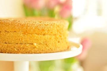 Бисквитный пирог - рецепт без жира