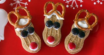 Рецепты на Новый год. Печенье для детей Олень Рудольф