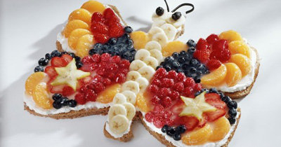 Рецепты для детей. Как украсить торт Бабочка