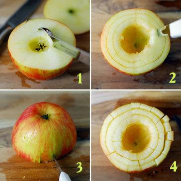 правильно нарезать яблоки