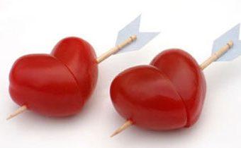 Рецепты вкусных блюд на День св. Валентина. Украшение блюд. Праздничная подача
