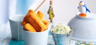 Рыбные блюда. Рыбные палочки