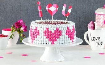Украшение торта на День св. Валентина