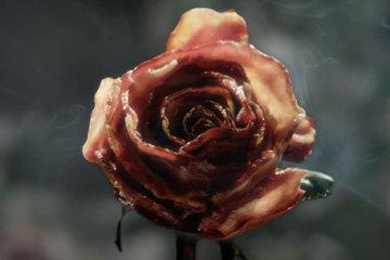 ...вот такая оригинальная закуска Роза - красивая