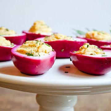 Блюда из маринованных яиц