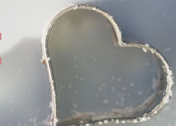 Формочка в виде сердечка