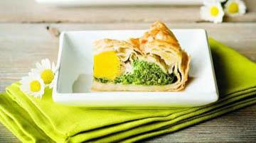 Пирог со шпинатом украсит ваш пасхальный стол