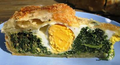 Праздничное меню на Пасху. Пирог со шпинатом по-итальянски