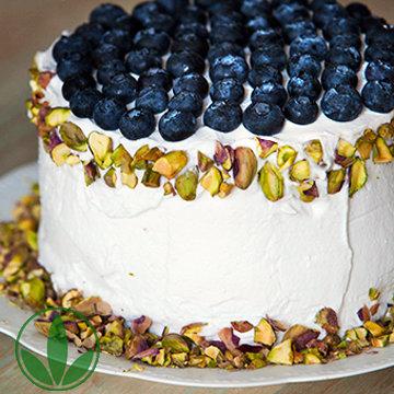 Десерты без выпечки - торт из ягод и фруктов!