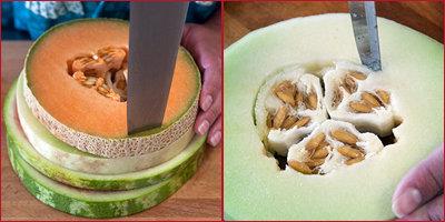 Как нарезать арбуз и дыню