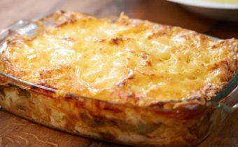 Приготовление лазаньи из картофеля