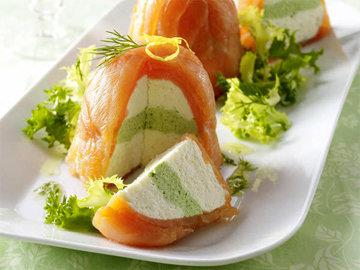 Террин из рыбы с кремом из сливочного сыра