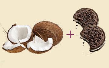 Домашнее мороженое из кокосового молока и печенья Орео