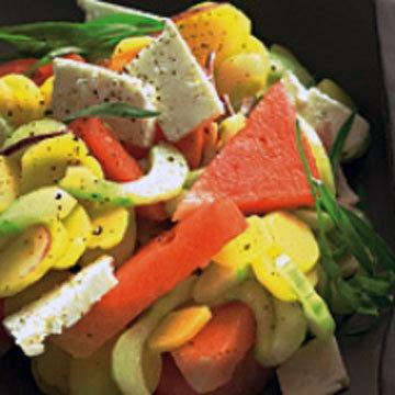 Картофельный салат с арбузом