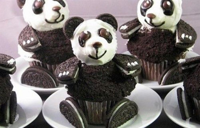 Рецепт капкейков Мишка-панда