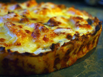 Кишкабачками и сыром